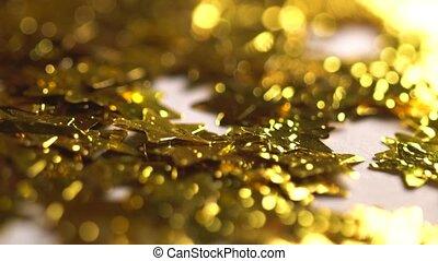 goldenes, sternen, fallender