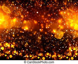 goldenes, sternen, glitzer, weihnachten, hintergrund