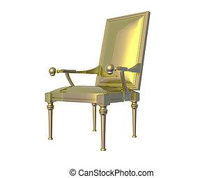 goldenes, stuhl