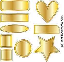 goldenes, taste, vektor, sammlung