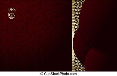 goldenes, textural, rosa, farbe, farbe, abstrakt, burgunder, zusammensetzung, dunkel, satz, rahmen, runder , masche