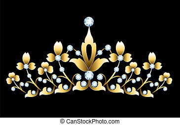goldenes, tiara