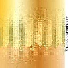 goldenes, twinkly, hintergrund, licht