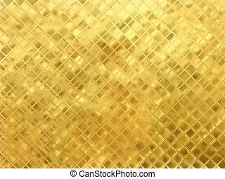 goldenes, vektor, mosaik, hintergrund.