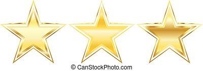 goldenes, vektor, stern, element