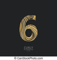 goldenes, zählen 6