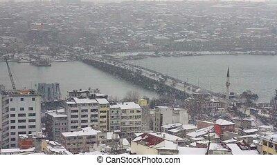 Goldenhorn in winter - Goldenhorn in heavy snowfall,...