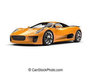 Goldenrod super sports car - studio shot