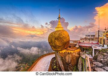 Goldeon Rock Myanmar - Kyaiktiyo, Myanmar at Golden Rock.