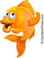 goldfish, caricatura