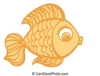 Goldfish cartoon hand drawn illustration