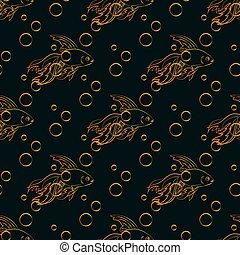 Goldfish seamless pattern