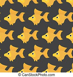 Goldfish seamless pattern. Vector background of fabulous...