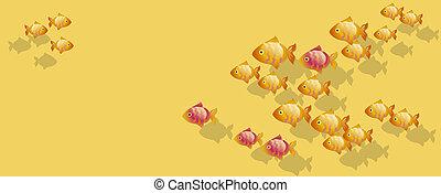goldfish vector illustration. landing page header.