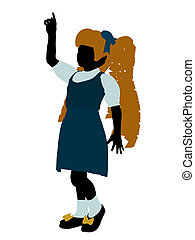 Goldielocks Silhouette Illustration