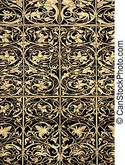 Goldleaf ornamental pattern