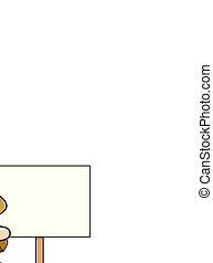 goldnugget, zeichen., prospektor, holdling, karikatur