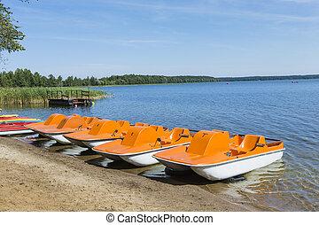 Goldopiwo lake on Masuria in Poland.