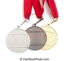 gold,silver and bronze medals