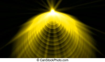 golen cone top launch dazzling rays