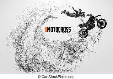 golfütők, vektor, motokrossz, ábra, silhouette.