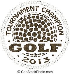 golf, étiquette