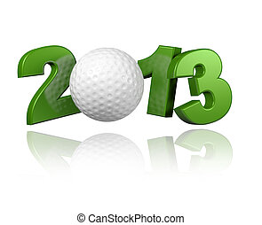 Golf 2013 with a White Background