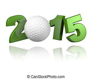 Golf 2015 design with a White Background