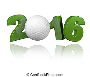 Golf 2016 design with a White Background