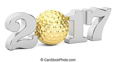 golf 2017 concept, 3D rendering