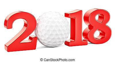golf 2018 concept, 3D rendering