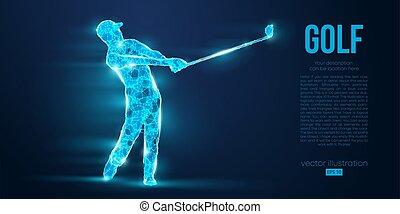 golf, alambre, partículas, color, ser, cualesquiera, bajo, ...