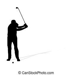 golf athlete - Vector illustration of golf athlete
