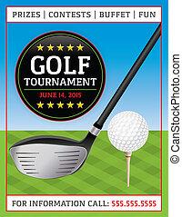 golf, aviateur, tournoi