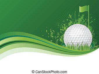golf background - golf design elements,green background