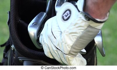 Golf Bag and Golf Clubs