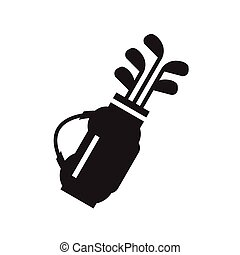 Golf bag with clubs symbol icon