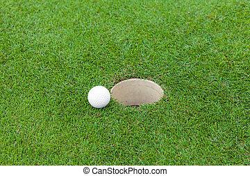 golf bal, lip, kop