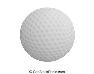golf bal, op, gras