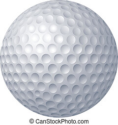Golf ball - 2D computer illustration, gradient fill only