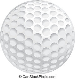 A white golf ball illustration.
