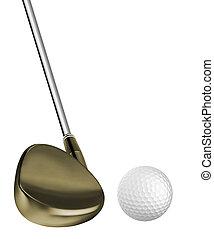 Golf ball and a golf club