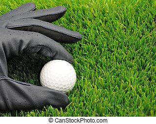 golf ball and glove