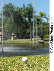 Golf Ball and lake
