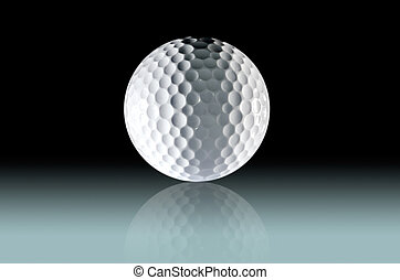 Golf Ball Clipping path included.