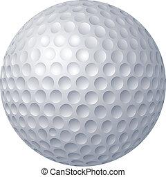 Golf ball - 2D computer illustration, gradient fill only