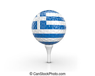 Golf ball Greece flag