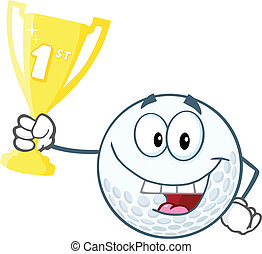 Golf Ball Holding Trophy Cup