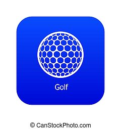 Golf ball icon blue