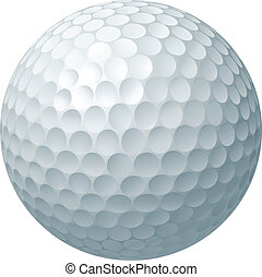 Golf ball illustration - An illustration of a traditional...